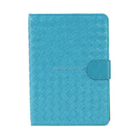 2014 Diamond Weave PU Leather Flip Design Case Cover for iPad mini 2