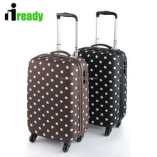 China supplier classical wave point PC spinner wheels trolley luggage