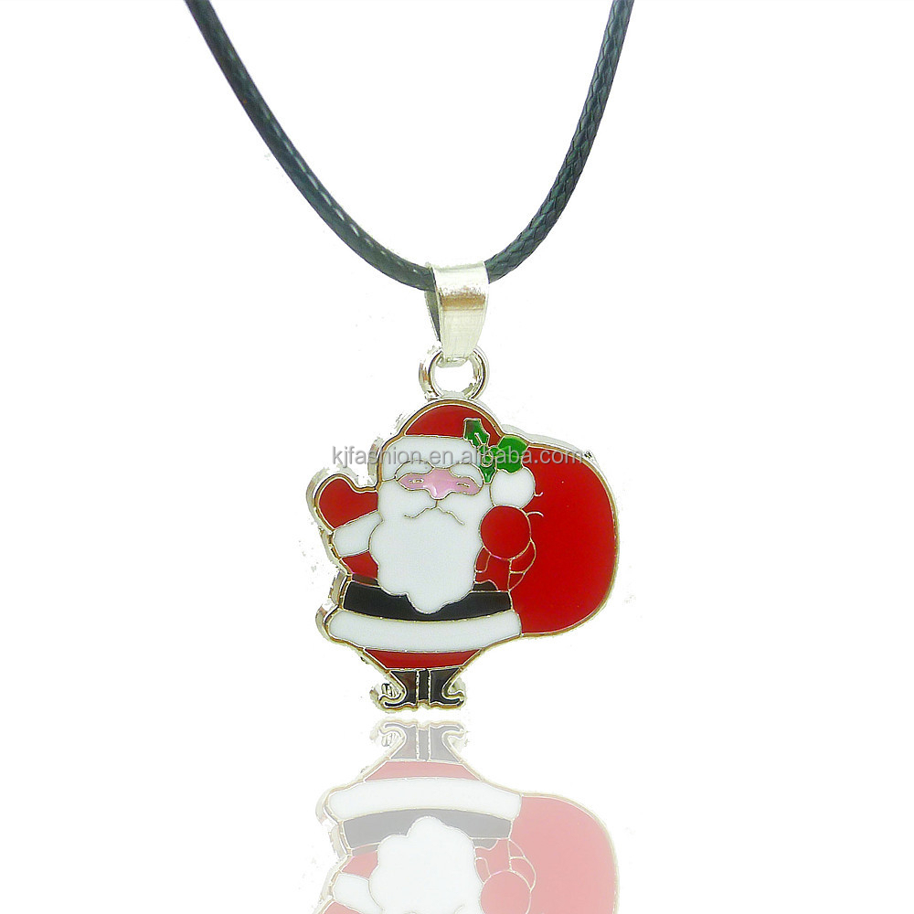 Santa claus alloy essential oil pendant necklace for