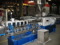 50mm HKY-50 co-rotating twin screw plastic extruder pp