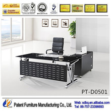 PT-D0501 small executive glass office desk size standard office desk dimensions