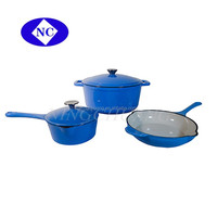 shijiazhuang Colorful enamel cookware set cast iron kitchen cookware