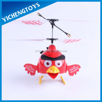 happy bird 3.5 channel plastic rc red bird helicopter