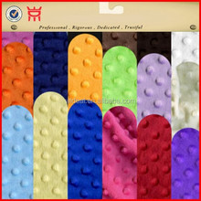 Wholesale minky dot fabrics 16 colors retail good quality