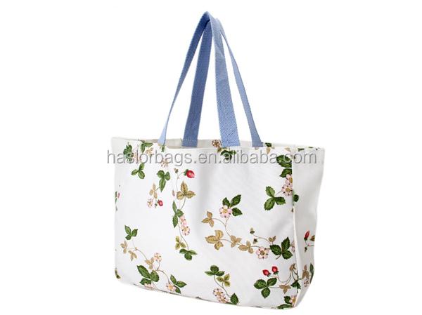 Wholesale Ladier Fashion Pattern Canvas Beach Tote Bag