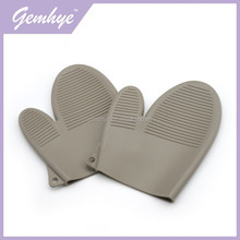 Grey Microwave Oven Use Silicone Rubber Kitchen Oven Hand Gloves