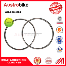 24mm Wide Aero Carbon 700C Clincher Road Rims wholesale depth 25mm hot sale