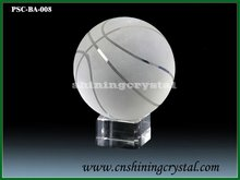 cheap glass crystal basketball with base