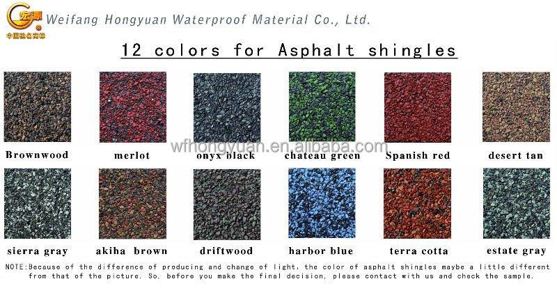 Hexagonal Type Mosaic Fiberglass Roof Shingles Bitumen