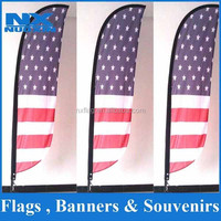 dye sublimation 110g knitted polyester feather outdoor advertising flags banners set