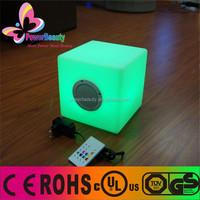 small cube lighting speaker led indoor flashing plastic home audio speaker