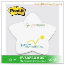 Star Shaped Post It Notes Promotional Gift