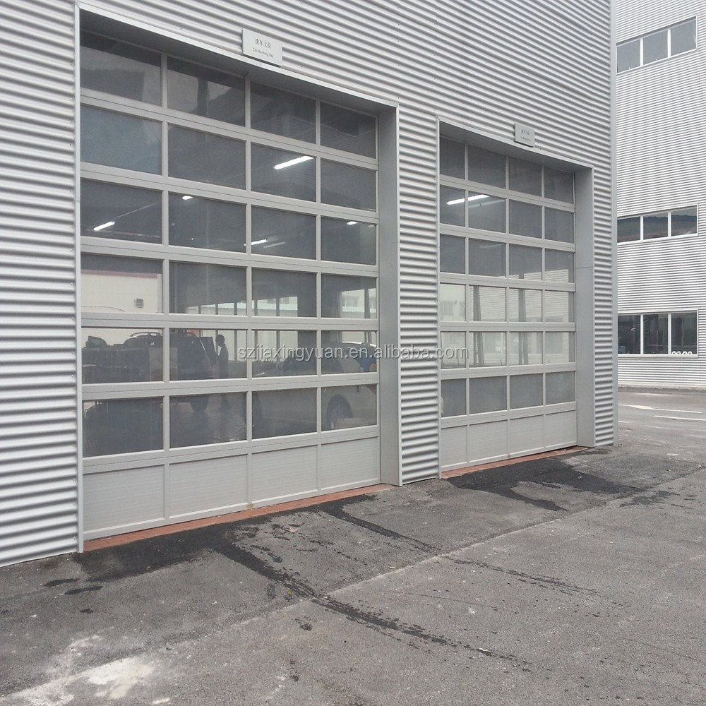 Insulated automatic impact resistant glass garage door buy impact