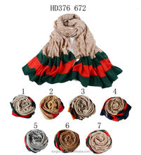 HD376 672 flower pattern bead hijab fabric factory in china shawl and scarves European style supplier alibaba china