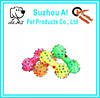 New Lovely Pet Dog Puppy Cat Chews Toy Squeaker Squeaky Sound Colorful Bone Toy