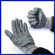 2015 China manufacturer Nitrile gloves working safety glove grey nitrile coated gloves
