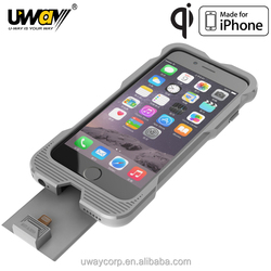 2015 NEWEST HOTTEST Qi certified Wireless Charger Receiver Case MFi approved Protective Case for iPhone 6 IP6-00203