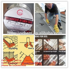 HOT SALES huiyuan top quality aluminum asphalt self adhesive bitumen flashing tape for waterproofing