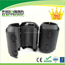 Snap split ferrite core with safety key technology for cable max 8mm
