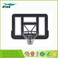 Deluxe black wall mounting glass basketball backboard