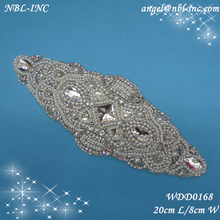 pearl beaded applique patch WDD0168