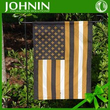 black out polyester material two sides printing with metal pole country garden flag