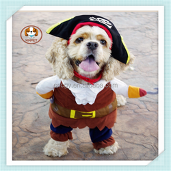 New 2015 pirates pet dog suit dog clothing factories in china pet costumes
