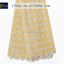 New arrival 100 polyester lace fabric/ african guipure indian embroidery lace curtain fabric/ nigerian cord lace for wedding