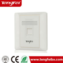 Competitive price!!! excellent high performance dust cover face plate RJ45 86 type shuttered Network Face Plate in china