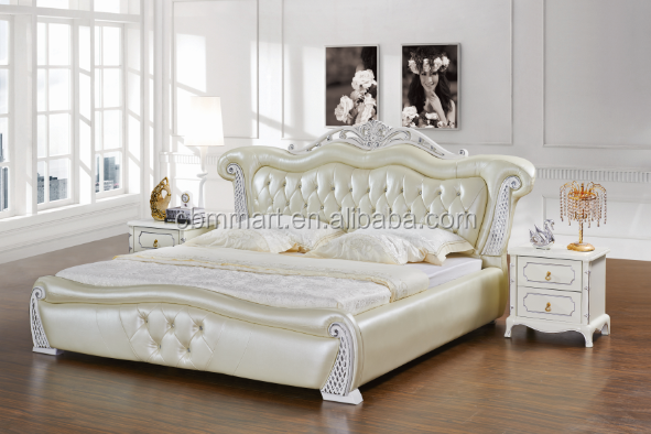 european style bedroom furniture leather bed 0402 buy