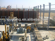 fully automated production line with curing rack and fly ash brick machine