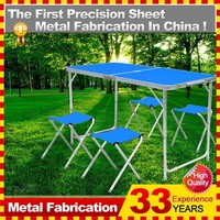 Metal Picnic Folding Foldable Table and Chairs With Aluminum Alloy legs