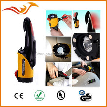 multi-function car emergency light with hammer, magnet, phone charging, warning light