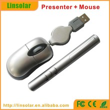 wireless presenter with red laser pointer, mini mouse with laser pointer