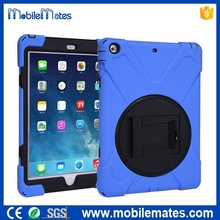 For iPad Air iPad 4 Silicone Case, Shock-proof Detachable Stand Silicone + PC Hard Cover Case for iPad with Screen Cover