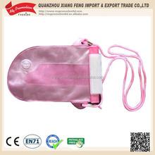 Fashion design woman pink travel phone case with lanyard
