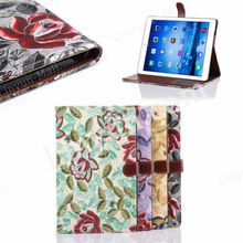 Fabric wallet ultra thin leather cover case for apple ipad air 2