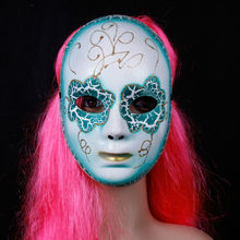 Wholesale Halloween party plastic mask Lake blue venetian masks for party