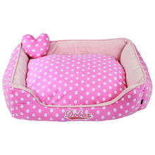Hotsell pink dog bed luxury,dot princess bed for dog, dog bed with pillow dog beds and pillows