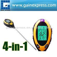 ZD-07 digital 4 en 1 del suelo de la planta y el césped de ph y temperatura humedad medidor de luz probador