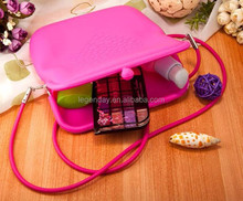 Cheap Silicone Square shaped Jelly colors Fashion silicon shoulder bag