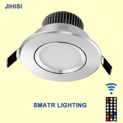 Favorite color change led down lights heat sink