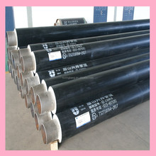 polyurethane rigid foam with hdpe jacket thermal insulating pipeline for hot water network