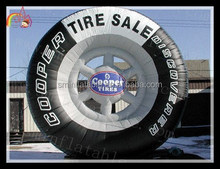 Hot selling outdoor giant inflatable tire model for advertising