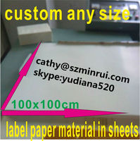 Hot sale! 100X100cm sheets single sided adhesive and anti-counterfeiting warranty usage hight glossy white destructible vinyl