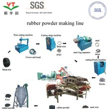 professional tire rubber sheet cutting machine/tire recycling