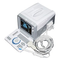 10 inch monitor Ultrasound Scanner Two probe connectors Machine with 3.5MHz Convex Probe B scan