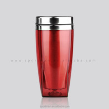 changeable insert paper BPA free double wall bulk plastic coffee mug