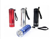 power light led torch 9 LED Flashlighting led flashlight for promotional gift