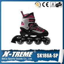 European market adults fashion high heel pu inline skate shoes